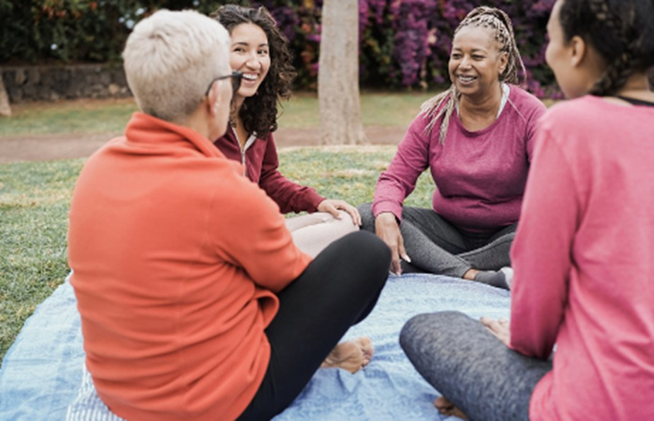 Women Sitting Down After Exercise