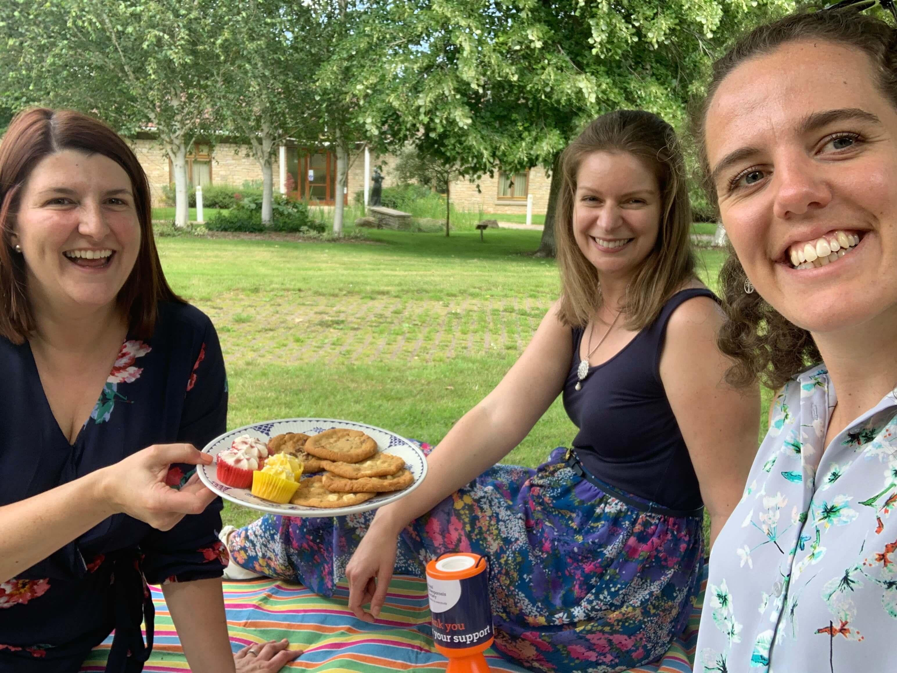 ROS team enjoying picnic